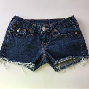 True Religion Joey Cutoff Jean Shorts Size 26